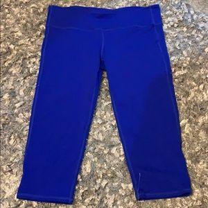 Athleta blue Capri workout pants